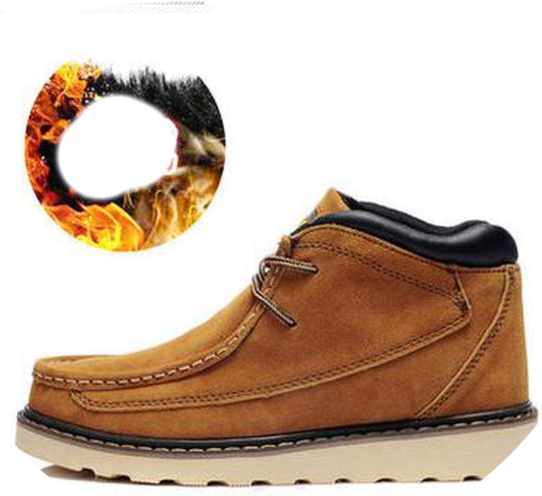 Male Winter Casual Cotton-Padded shoes Men's Plus Velvet Warm Boots