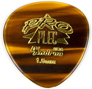 D'Andrea PRO-385 Pro Plec 1.5mm Guitar Pick with Shell Finish (12 Piece, Large Round)