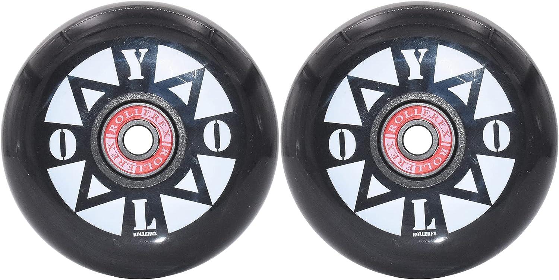 Charlotte Mall Rollerex Elegant YOLO Inline Skate Wheels Spacers Bearings with 2-Pack