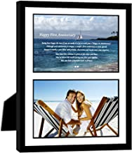 Poetry Gifts Give First Anniversary Frame for Couple, Add Photo