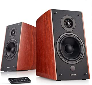 Edifier R2000DB Powered Bluetooth Bookshelf Speakers - Near-Field Studio Monitors - Optical Input - 120 Watts RMS - Wood