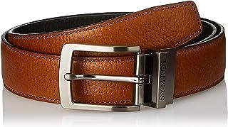 Amazon Brand - Symbol Men's leather Formal reversible Belt