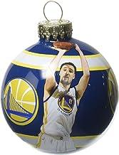 Golden State Warriors Klay Thompson Image Glass Ball Christmas Ornament