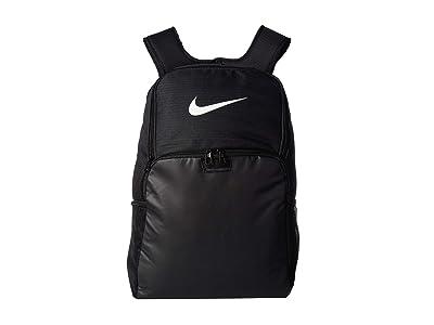 Nike Brasilia XL Backpack 9.0 (Black/Black/White) Backpack Bags