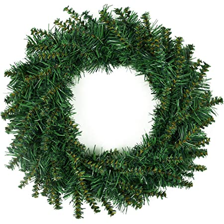 Northlight Pre Lit Deluxe Windsor Pine Artificial Christmas Wreath 10 Inch Clear Lights Home Kitchen