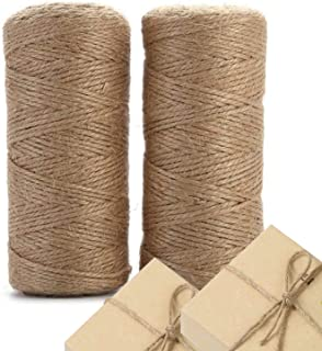 3 Ply 4mm Arts and Crafts Jute Rope Heavy Duty Packing String for Gifts Bundling Decoration DIY Crafts Gardening and Recycling ILIKEEC 328Feet Natural Jute Twine