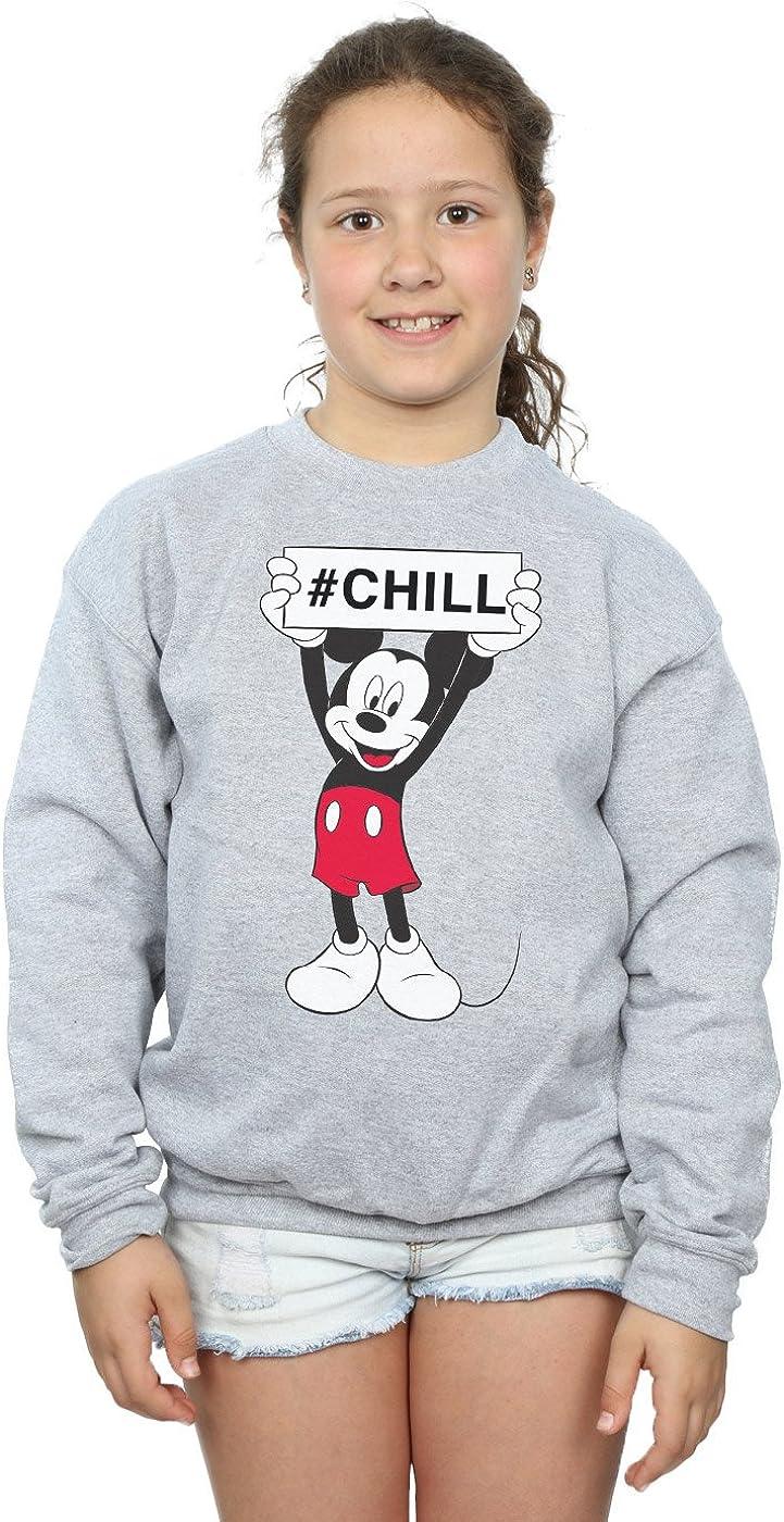 Disney Girls Mickey Mouse Grid Sweatshirt