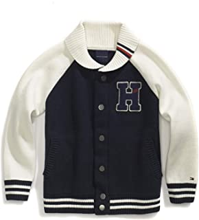 7adf2cfc6 Tommy Hilfiger Boys' Big Adaptive Sweater with Magnetic Buttons and Shawl  Neck