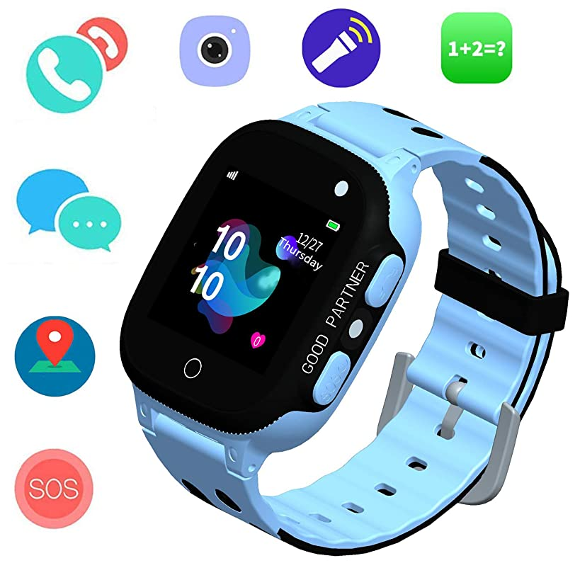 Smart Watch for Kids - Smartwatches with SOS Voice Chat Camera Flashlight Alarm Clock Digital Wrist Watch Smartwatch Position Locator Girls Boys