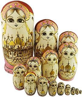 QHMY Matryoshka Russian Doll Kids Stampato Asciugamano da Bagno Morbido Altamente Assorbente Asciugamani Grandi Multiuso per Bagno Hotel Palestra e Spa 3070 cm