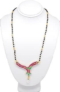 Arras Creations Designer Trendy Imitation CZ Pendant Mangalsutra Necklace for Women / AZMNCZ201