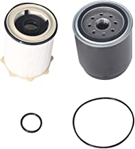 Diesel Fuel Filter Set Water Separator - Compatible with Ram 2500, 3500, 4500, 5500 6.7L Cummins Engine Years 2013, 2014, ...