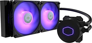 Cooler Master MasterLiquid ML240L RGB V2 Double 120mm (240mm) Fan All-in-One CPU Water Cooler - Black - MLW-D24M-A18PC-R2