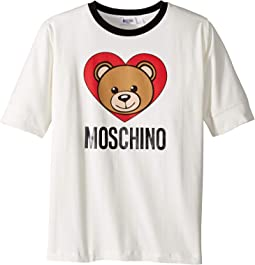 Short Sleeve Teddy Bear Heart Logo T-Shirt (Big Kids)