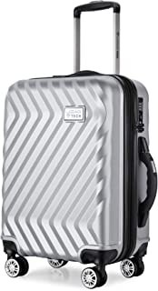 Monaco Collection 28 inch Location Smart Luggage with USB Ports Spinner Wheels and TSA Lock with Bulit in Scale Luggage (Silver)