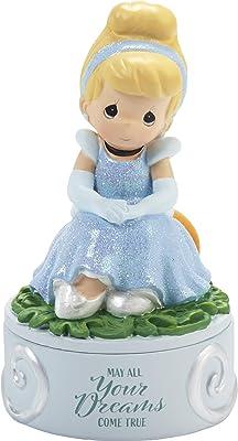 Precious Moments 202037 Cinderella Dreams Come True Resin Disney Covered Box, One Size, Multicolored