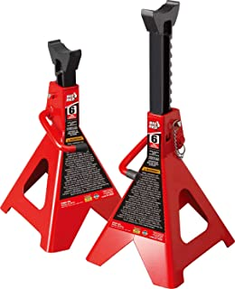 BIG RED T46002A Torin Steel Jack Stands: Double Locking, 6 Ton (12,000 lb) Capacity, 1 Pair