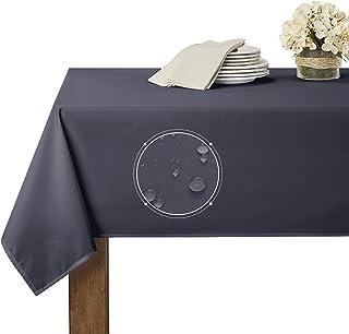 رومیزی ضد آب RYB HOME به مدت 6 فوت مستطیل ، میز مقاوم در برابر لکه ، بدون چین و چروک و قابل شستشو با روکش پلاستیکی ، قابل شستشو / رستوران ، 60 84 84 اینچ ، خاکستری