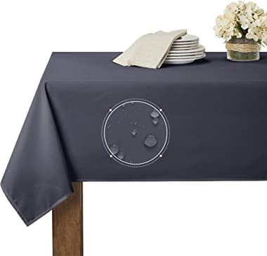 RYB HOME Waterproof Table Cloth for 6 ft Rectangle Tablecloth Scratch Resistant, Wrinkle Free and Spillproof Washable Polyest