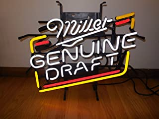 Urby Miller Genuine Draft Neon Light Sign Beer Bar Pub Real Glass 17''x13''! NA60