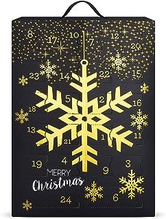 SIX Schmuck-Adventskalender mit Schneeflocken-Design: 24 Überraschungen in Form schöner Schmuckstücke wie Ohrringe, Ketten...