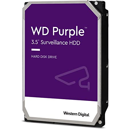"WD Purple 1TB Surveillance Hard Drive - 5400 RPM Class, SATA 6 Gb/s, 64 MB Cache, 3.5"" - WD10PURZ"