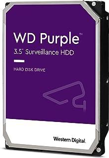 """Western Digital WD10PURZ Purple 1TB 3.5"""" Surveillance HDD 5400RPM 64MB SATA3 6Gb/s 110MB/s 180TBW 24x7 64 Cameras AV NVR D..."""