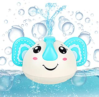QYSTARS Baby Bath Toys, Elephant Automatic Spray Water Bath Toy with Led Light, Induction Sprinkler Bathtub Shower Toys To...