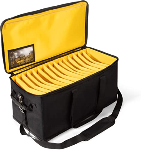 Large Cable File Bag with Shoulder Strap - Durable Gig Bags for Musicians - Cord Organizer Case with Handle - Profess...