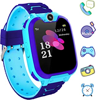 Kids Games Smartwatch Phone - 1.44'' HD Touch Screen Boys Girls Watch with MP3 Player 2 Way Call Camera Clock Voice-Record Calculator for Students Back to School Learning Birthday Gifts, Blue