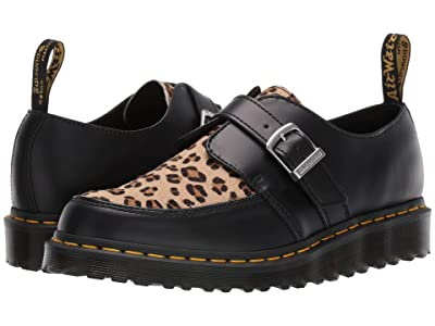 Dr. Martens Ramsey Monk Creepers (Black/Medium Leopard Smooth/Hair On) Shoes