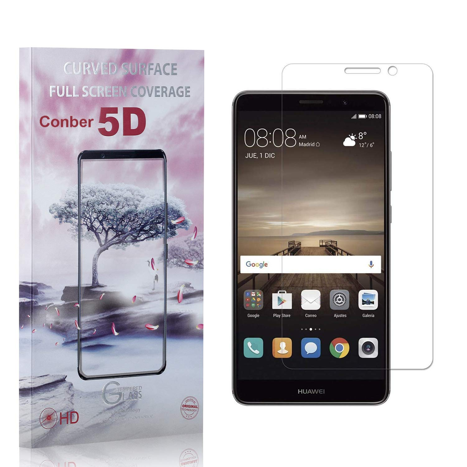 Conber 1 Pack Screen Protector Anti-Shatte Dedication Mate New product 9 Huawei for