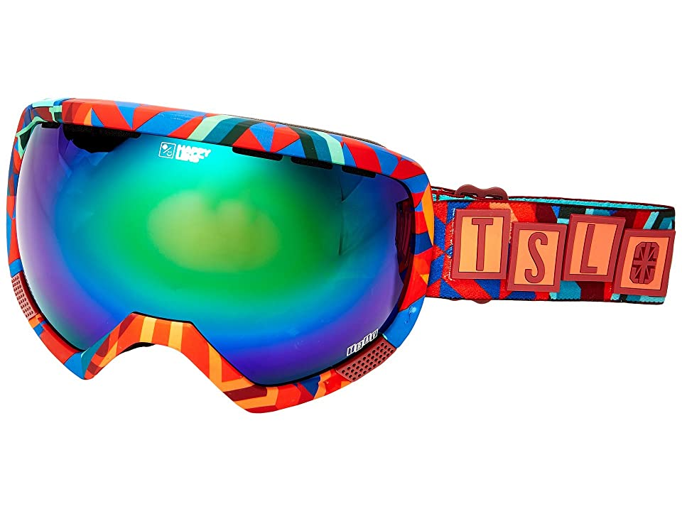 Spy Optic Platoon (Spy/Tsl/Travis/Happy Green Spectra/Happy Lucid Silver) Snow Goggles