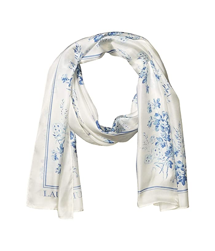 LAUREN Ralph Lauren  Lira (Cream/Toile Blue) Scarves
