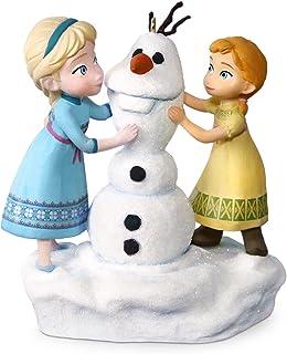 Best Hallmark Keepsake Disney Frozen Anna and Elsa Build a Snowman Musical Ornament - Blue, White Review