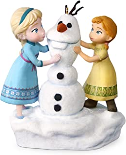 Hallmark Keepsake Disney Frozen Anna and Elsa Build a Snowman Musical Ornament - Blue, White