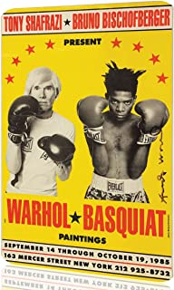 Metal Sign Andy Warhol Basquiat Boxing Poster Art
