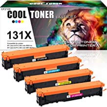 Cool Toner Compatible Cartucho de Toner para HP 131X 131A CF210X CF210A para HP Laserjet Pro 200 Color MFP M276n M276nw M251n M251nw M276 M251,128A CE320A CM1415FN CP1525N, 125A CB540A CP1215