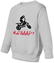LLiYing-D Braap Biker Motocross Children Toddler Boys & Girls Sports Long Sleeve Sweater T Shirts