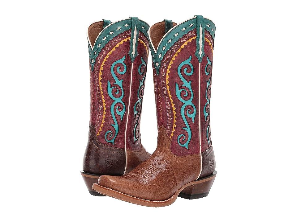 Ariat Cowtown Cutter (Wildhorse Tan/Dragon Fruit) Cowboy Boots