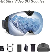 $292 » OhO Camera Ski Goggles, Anti-Fog Snowboard Goggles with UV400 Protection Dual Ski Lens, 4K 24MP Adjusted Action Camera, Low Temperature Working Battery (S6 Model)
