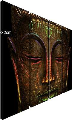 "Doodad Enlightening Buddha Canvas Wall Art (25"" x 9"" x 4 panles)"