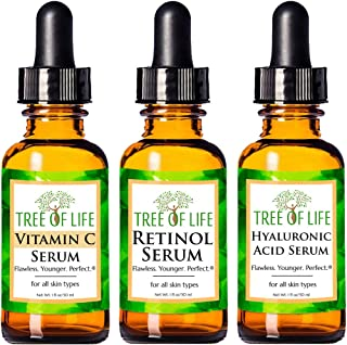 Anti Aging Serum Combo Pack - Vitamin C Serum - Retinol Serum - Hyaluronic Acid Serum - Anti Wrinkle Complete Regimen - Hi...