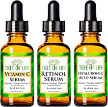 Anti Aging Serum 3-Pack for Face - Vitamin C Serum, Retinol Serum, Hyaluronic Acid Serum - Face Serum Full Regimen