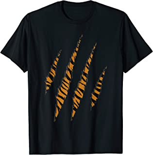 Tiger Skin pattern claw Tigers Paw scratches T-Shirt