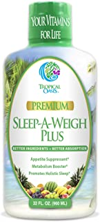 Sleep-A-Weigh Plus | Liquid Sleep Multimineral | Natural Sleep, Stress & Weight Loss Aid | w/Collagen, L-Carnitine, L-Lysi...