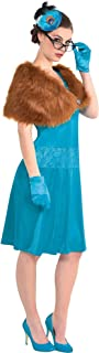 Party City Mrs. Peacock Costume for Adults, Clue, Standard Size, Includes a Dress, Shawl, Feather Fascinator, and Gloves