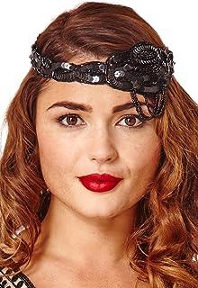 Charleston 1920`s Vintage Inspired Headband in Black