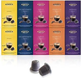 DANIELS BLEND - 100 Cápsulas de Café Compatibles con Máquinas Nespresso - SURTIDO