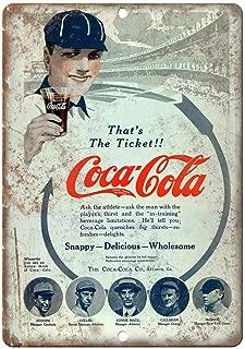 Ohuu Coca Cola Vintage Soda Baseball Ad 12